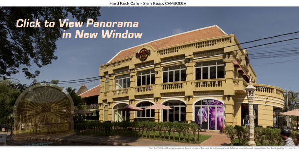 Hard Rock Cafe in Siem Reap, Cambodia - Panorama by Jason Rosette